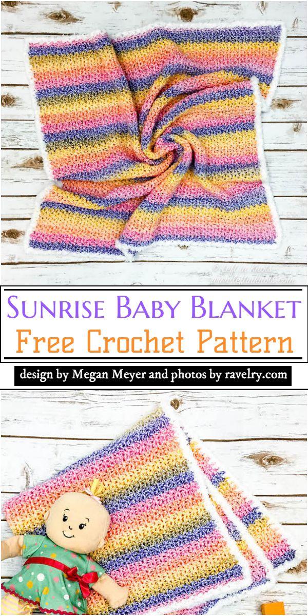Sunrise Baby Blanket Crochet Pattern
