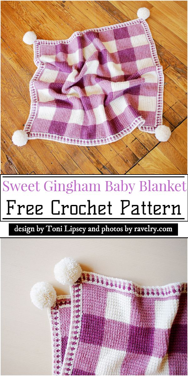 Sweet Gingham Baby Blanket Crochet Pattern