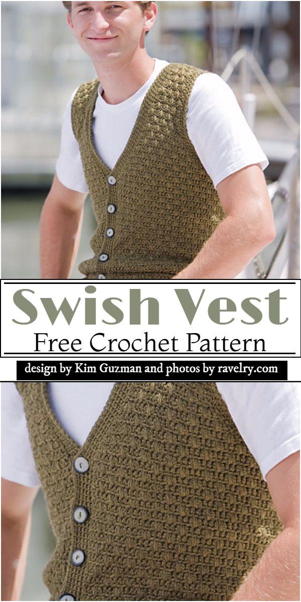 Swish Vest Crochet Pattern