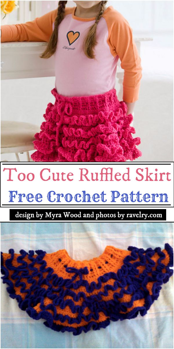 Too Cute Ruffled Skirt Crochet Pattern