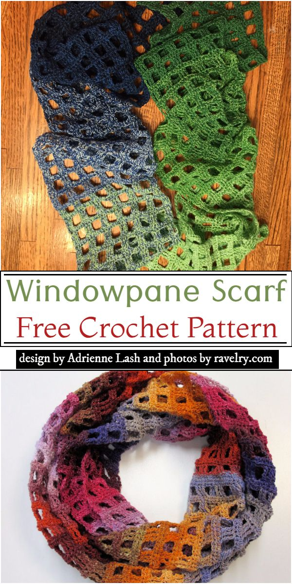 Windowpane Scarf Crochet Pattern