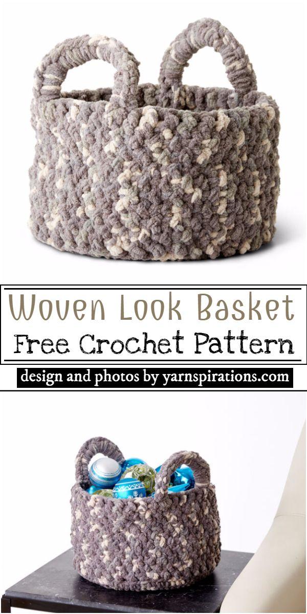 Woven Look Basket Crochet Pattern