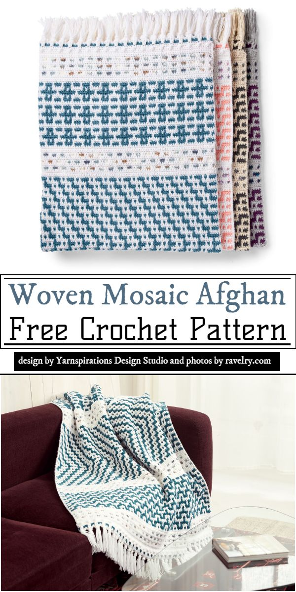 Woven Mosaic Afghan Crochet Pattern