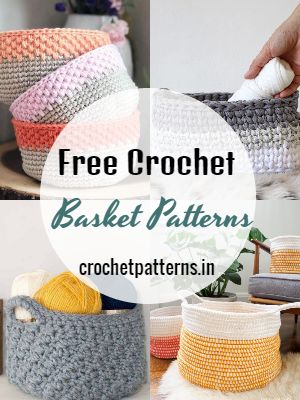 35 Free Crochet Basket Patterns