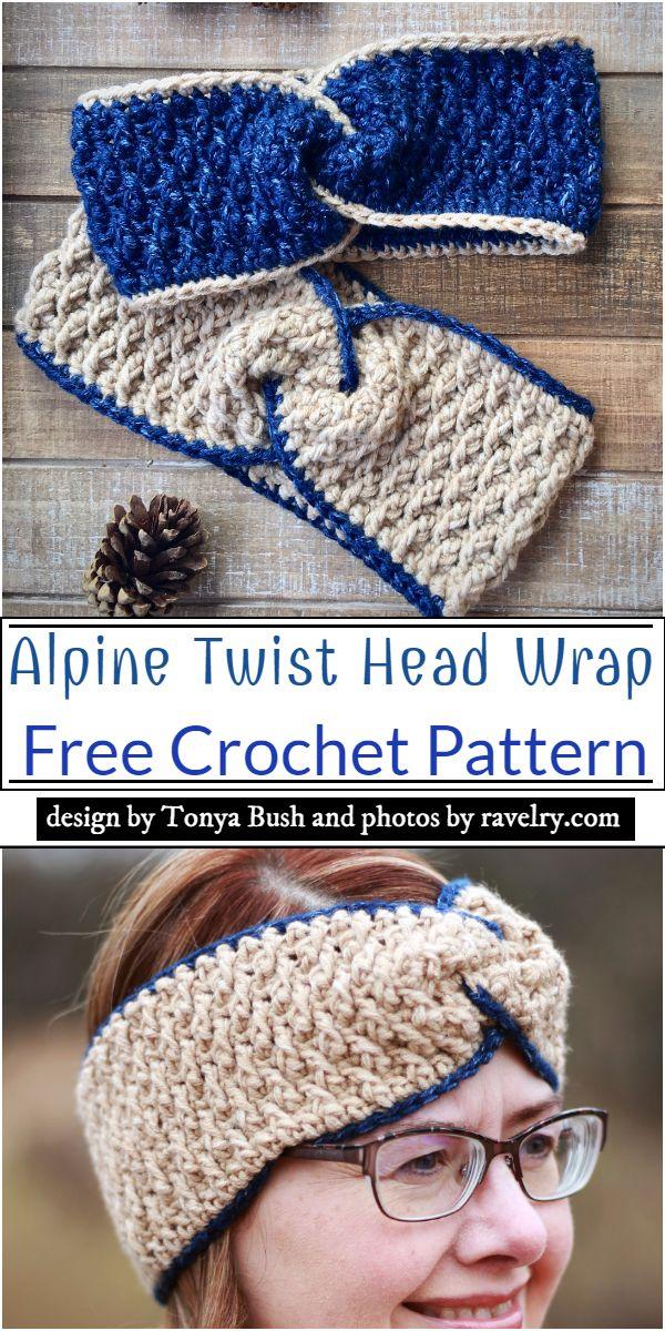 Alpine Twist Head Wrap Crochet Pattern
