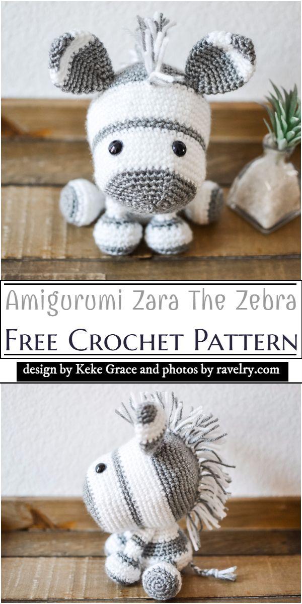 Amigurumi Zara The Zebra