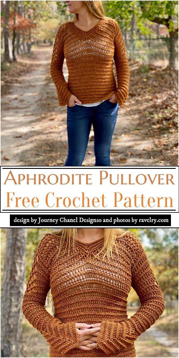 Aphrodite Pullover Crochet Pattern