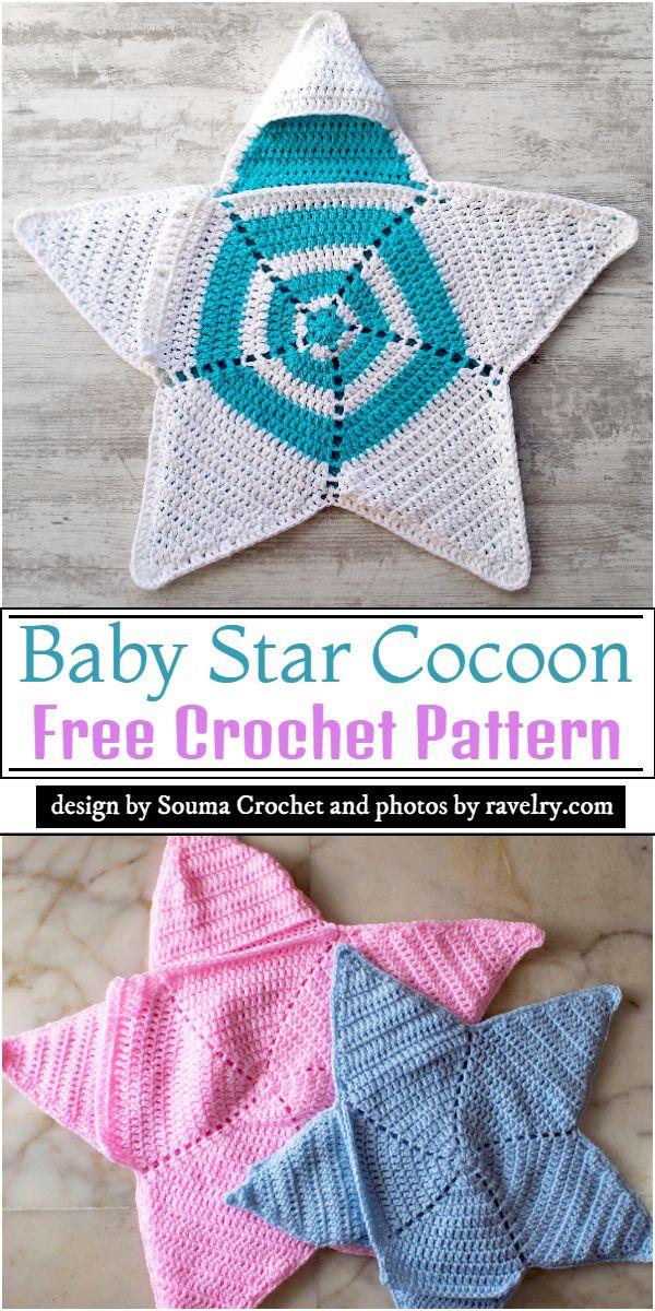 Baby Star Cocoon Crochet Pattern