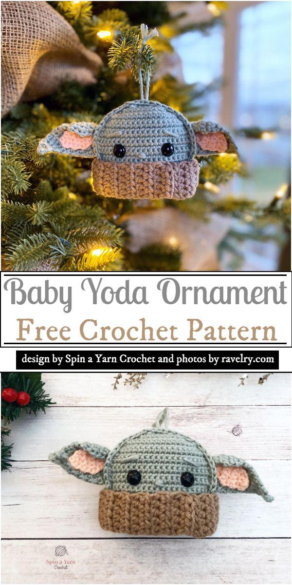 Baby Yoda Ornament Crochet Pattern