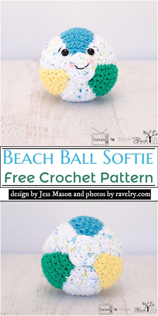 Beach Ball Softie Crochet Pattern