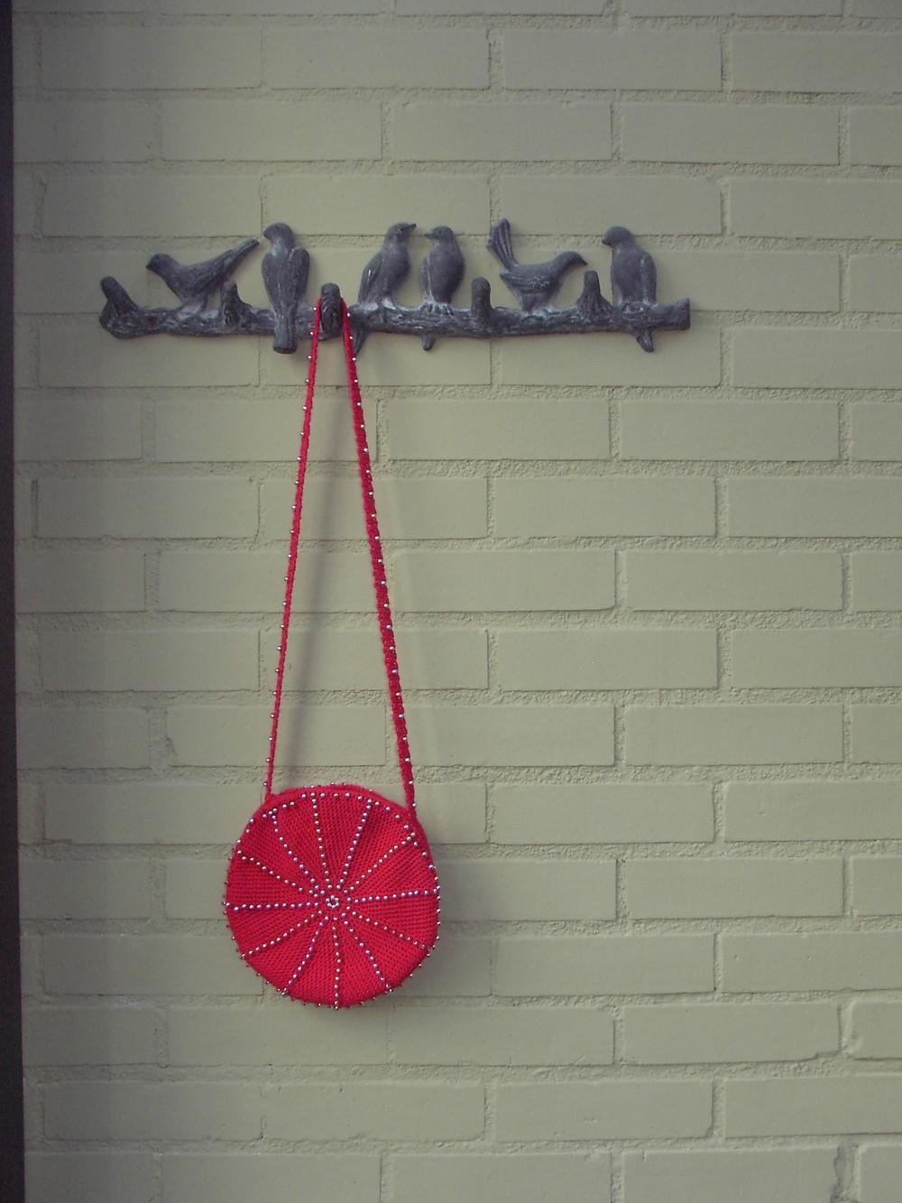 Beaded Crochet Circular Purse