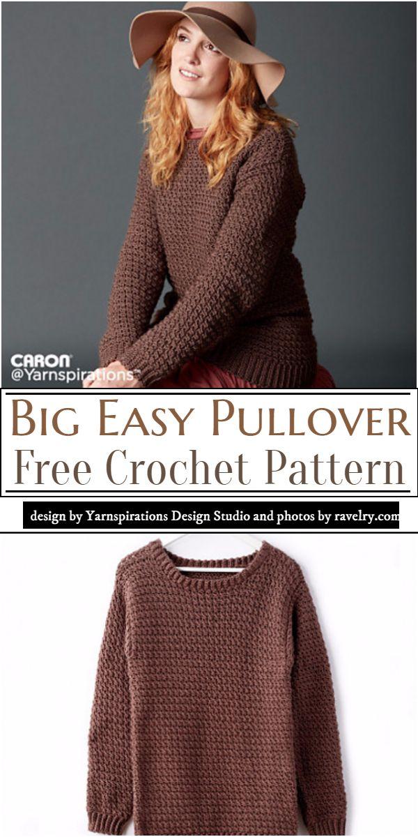Big Easy Pullover Crochet Pattern