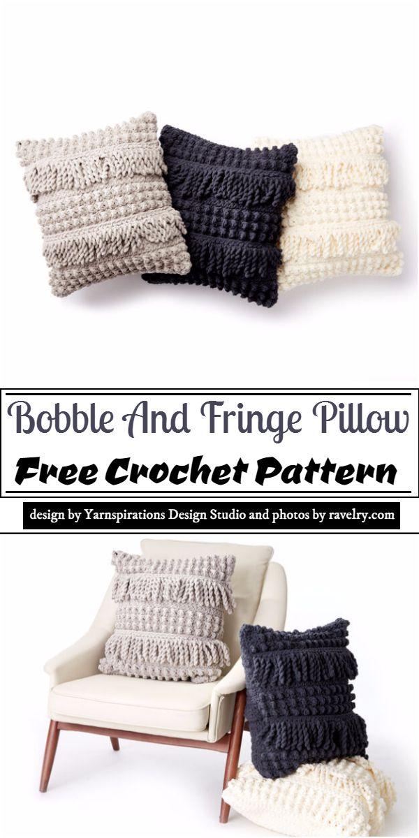 Bobble And Fringe Pillow Crochet Pattern