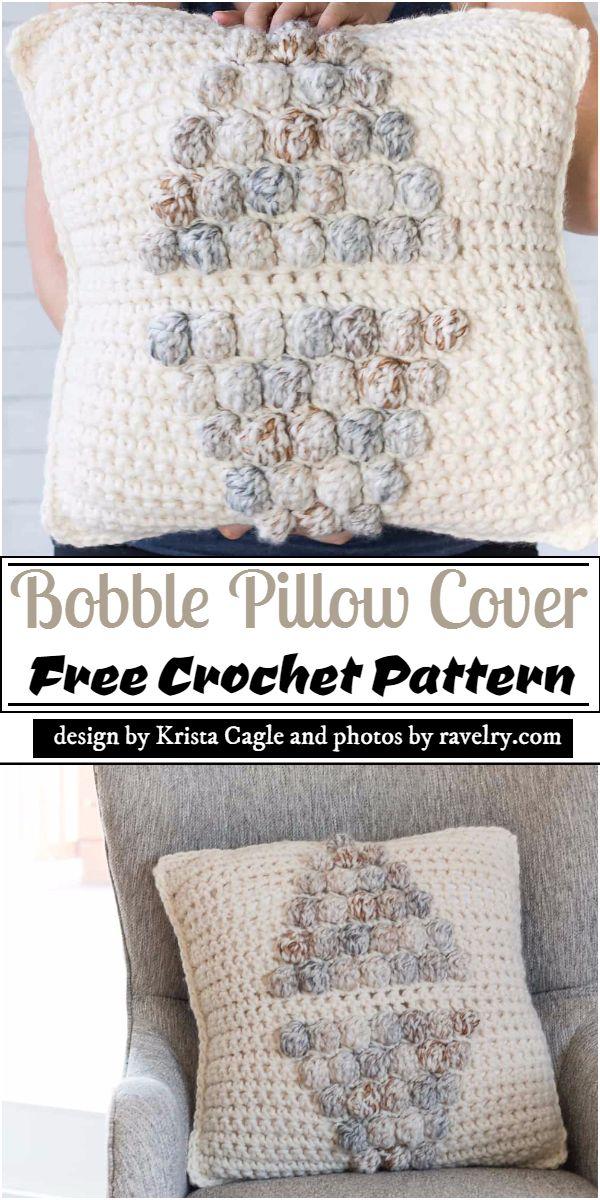 Bobble Pillow Cover Crochet Pattern