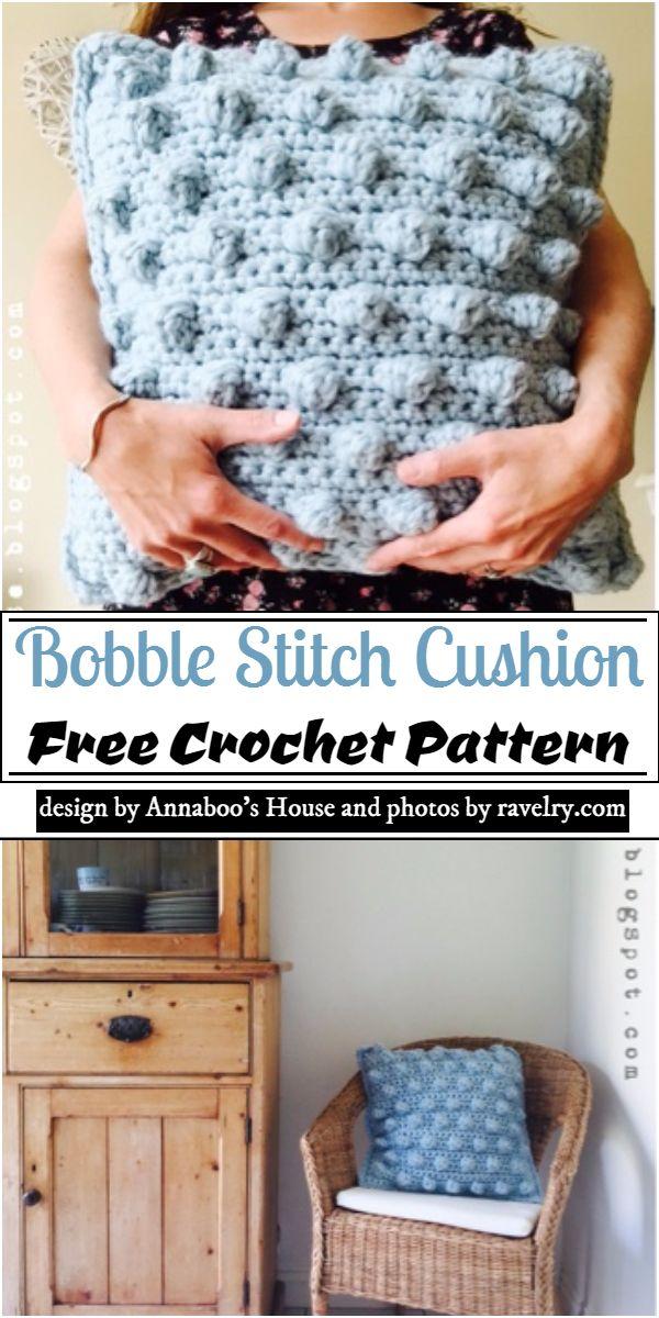 Bobble Stitch Cushion Crochet Pattern
