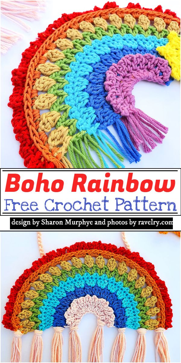 Boho Rainbow Crochet Pattern