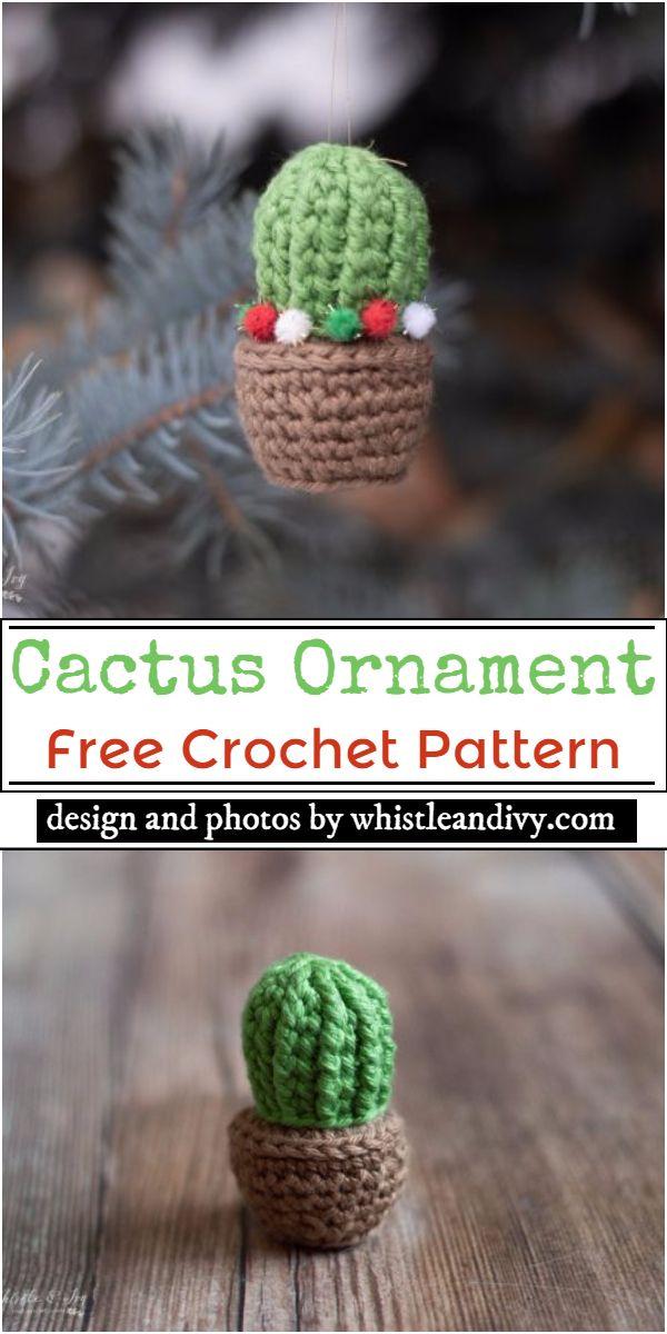 Cactus Ornament Crochet Pattern