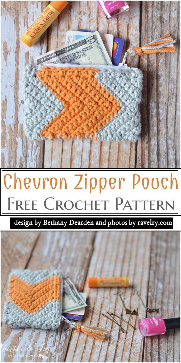Chevron Zipper Pouch Crochet Pattern