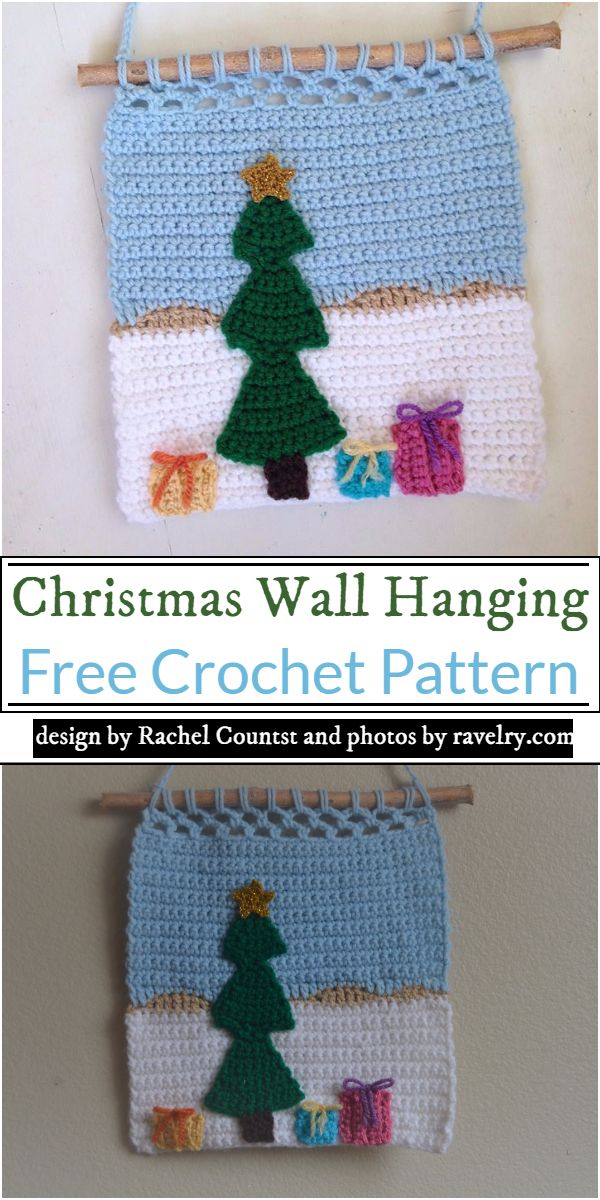 Christmas Wall Hanging Crochet Pattern