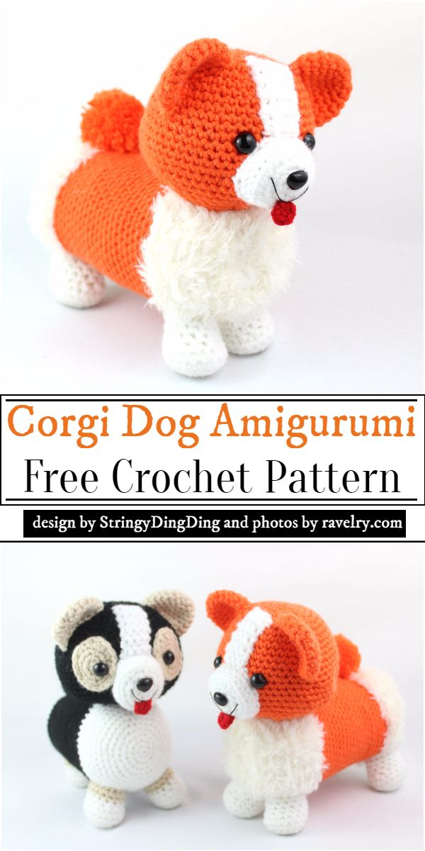 Corgi Dog Amigurumi Crochet Pattern