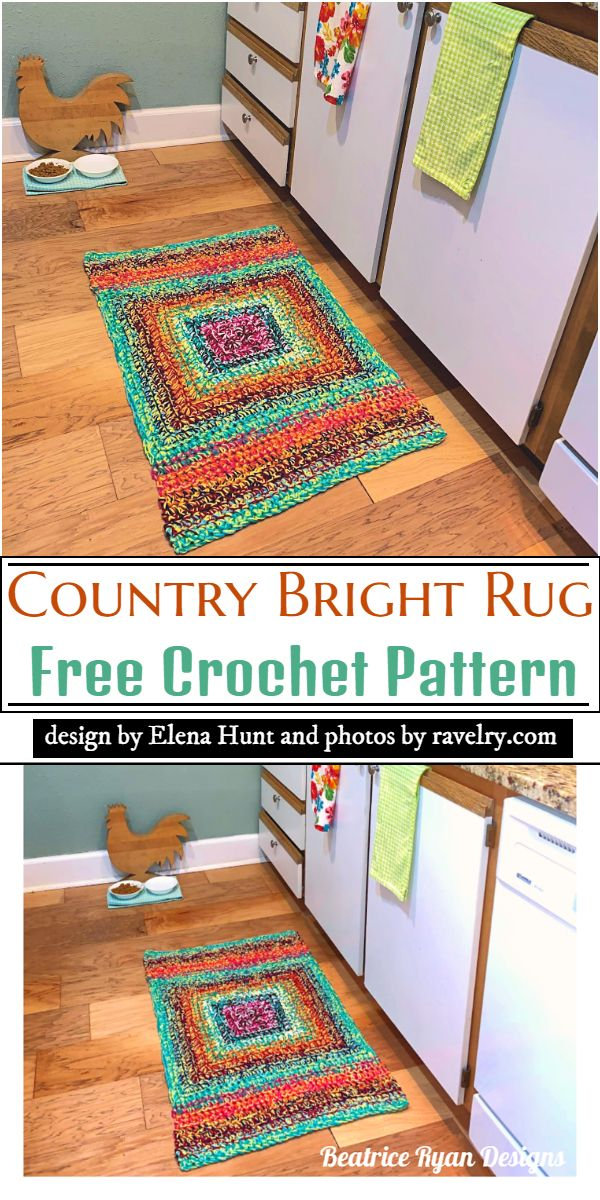 Country Bright Rug Crochet Pattern
