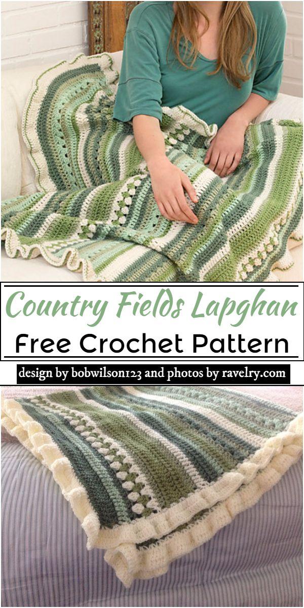 Country Fields Lapghan Crochet Pattern