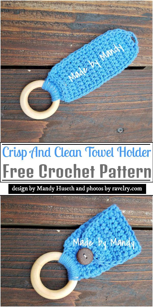 Crisp And Clean Crochet Towel Holder Pattern