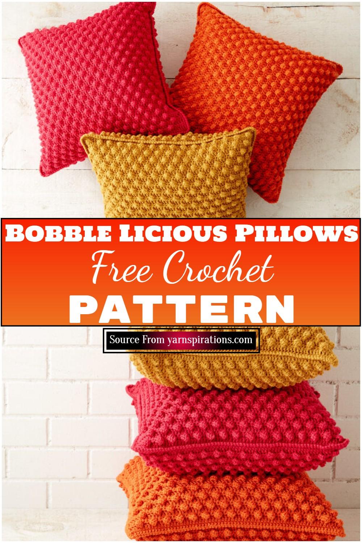 Crochet Bobble Licious Pillows 1
