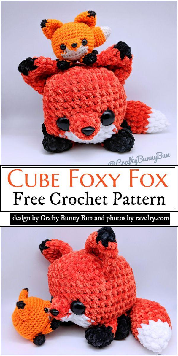 Cube Foxy Fox Crochet Pattern