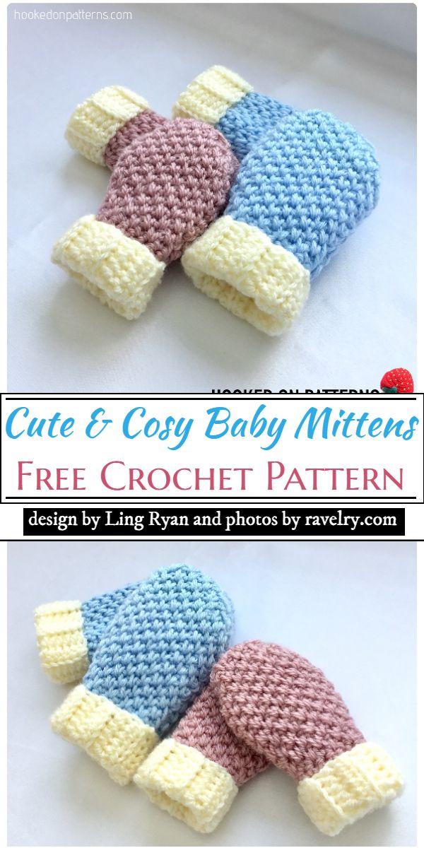 Cute & Cosy Baby Mittens Crochet Pattern