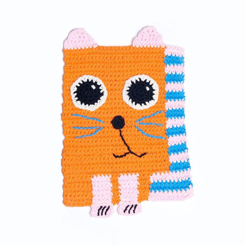 Cute Crochet Cat Dishcloth