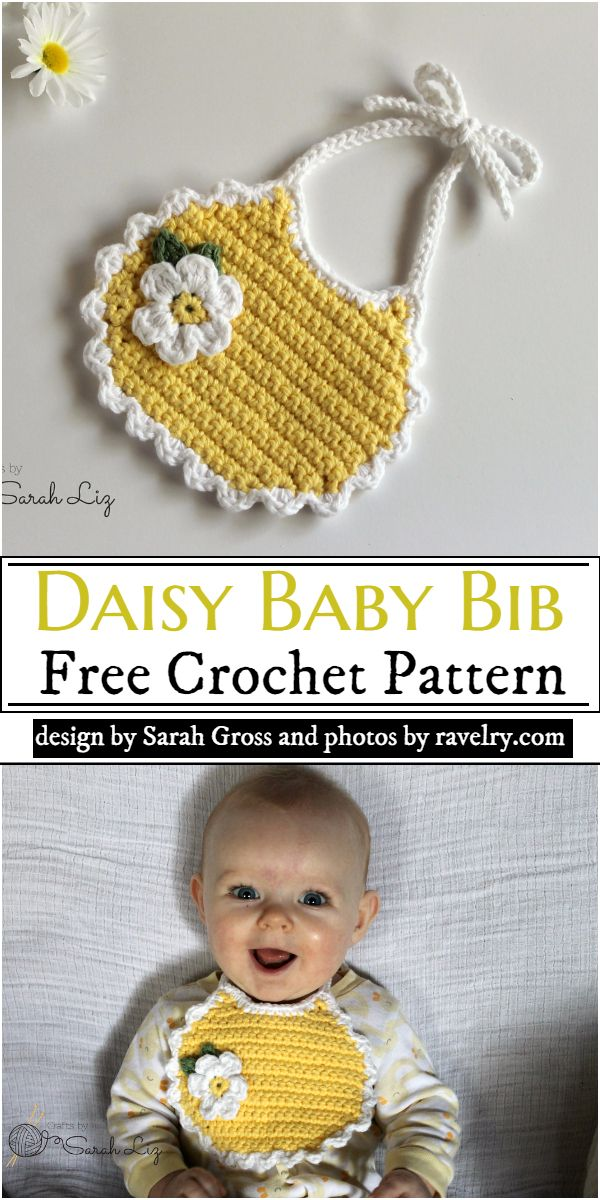 Daisy Baby Bib Crochet Pattern