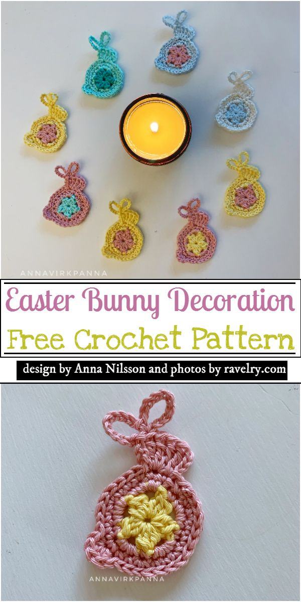 Easter Bunny Decoration Crochet Pattern