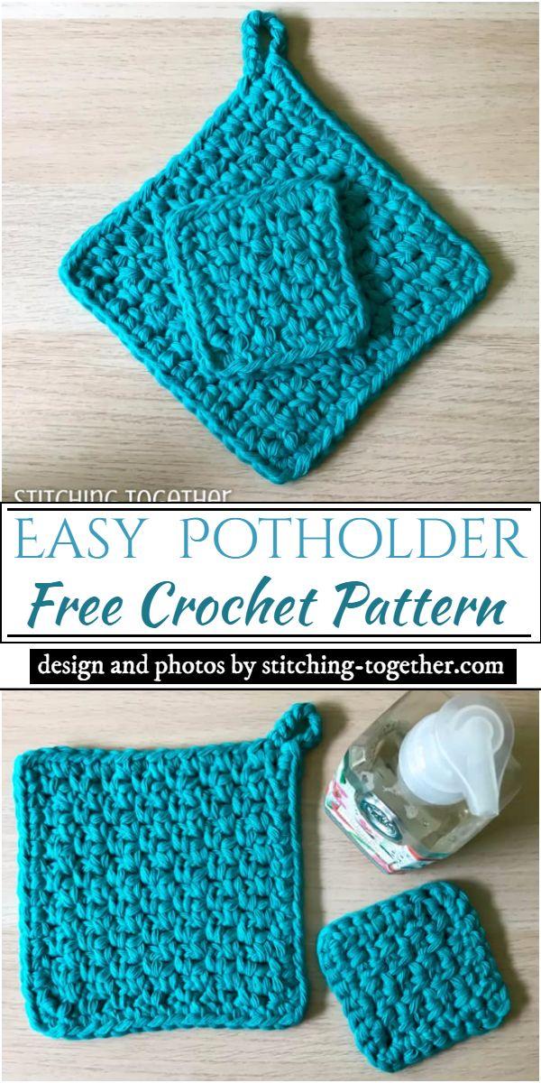 Easy Crochet Potholder Pattern