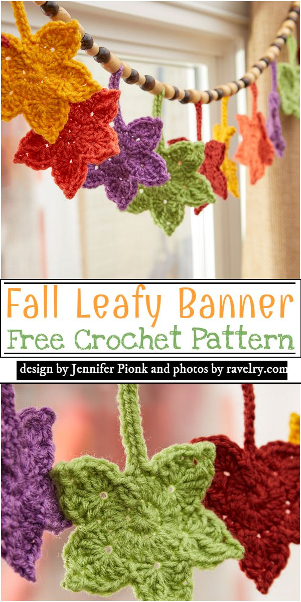 Fall Leafy Banner Crochet Pattern