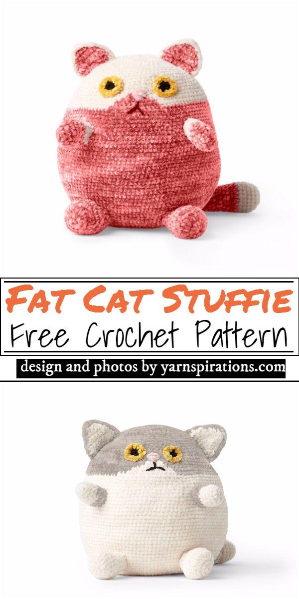 Fat Cat Stuffie Crochet Pattern