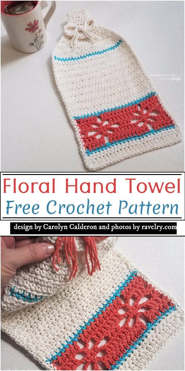 Floral Crochet Hand Towel Pattern