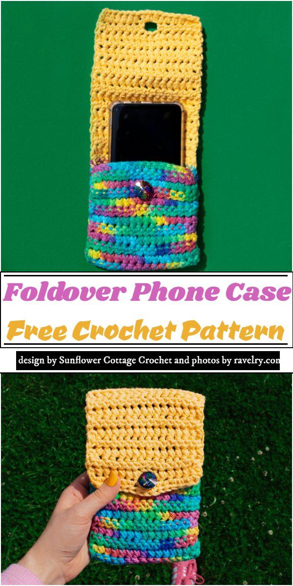 Foldover mobile cover Pattern