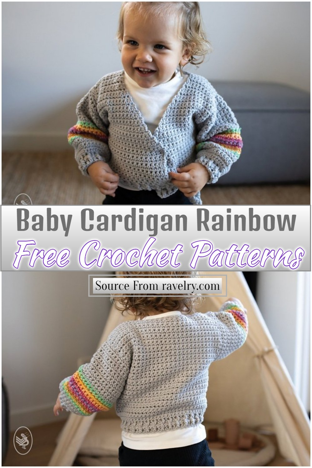 Free Rainbow Pattern for cute babies