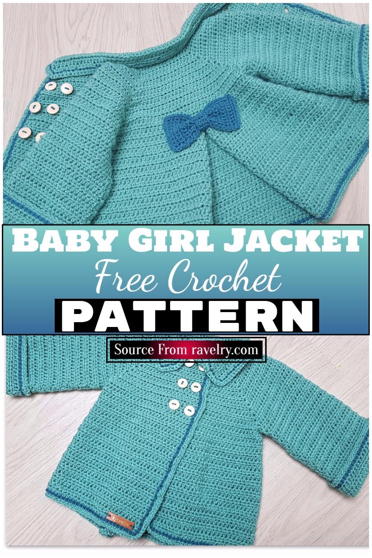 Free Crochet Baby Girl Jacket Pattern 1