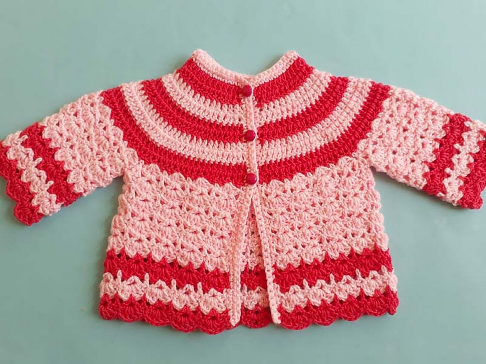 Free Crochet Baby Jacket Pattern