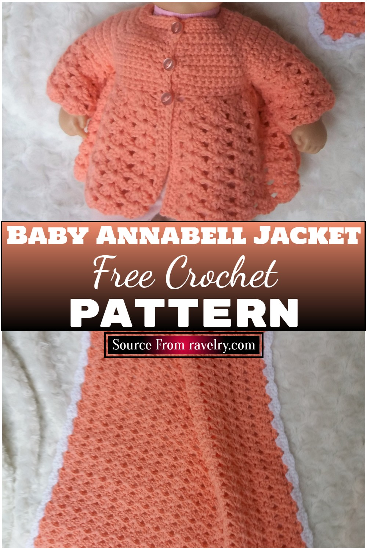 Free Crochet Baby Spring Jacket Pattern 1
