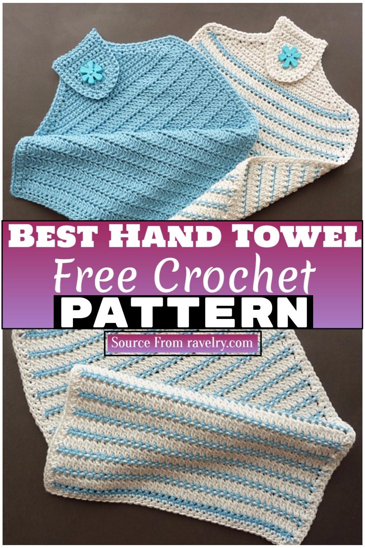 Free Crochet Best Hand Towel 1