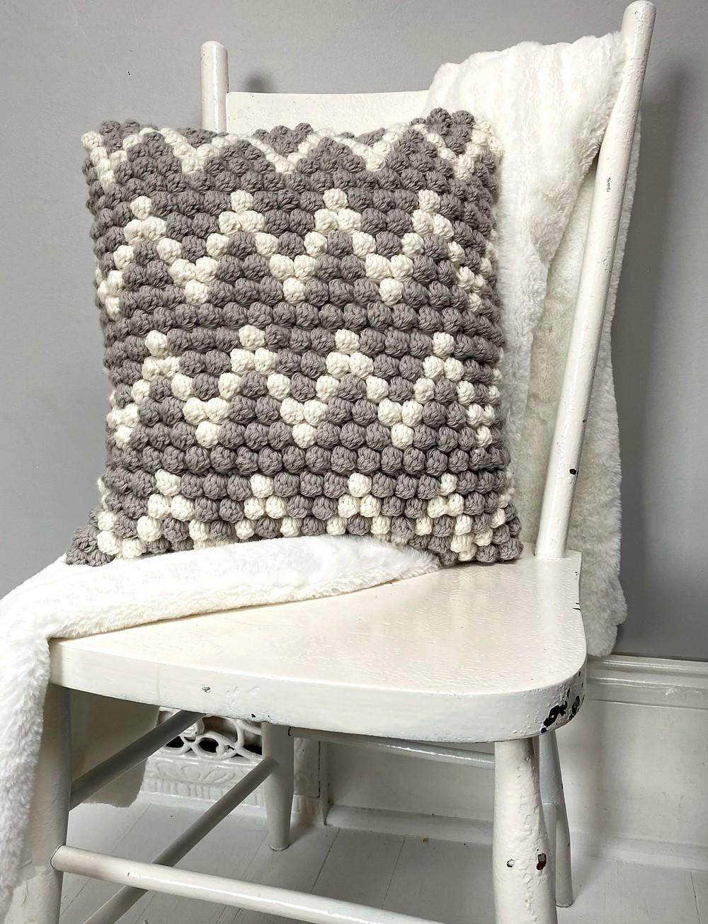 Free Crochet Bobble Envy Pillow Pattern