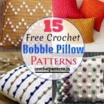 15 Free Crochet Bobble Pillow Patterns