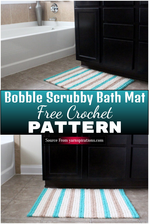 Free Crochet Bobble Scrubby Bath Mat Pattern