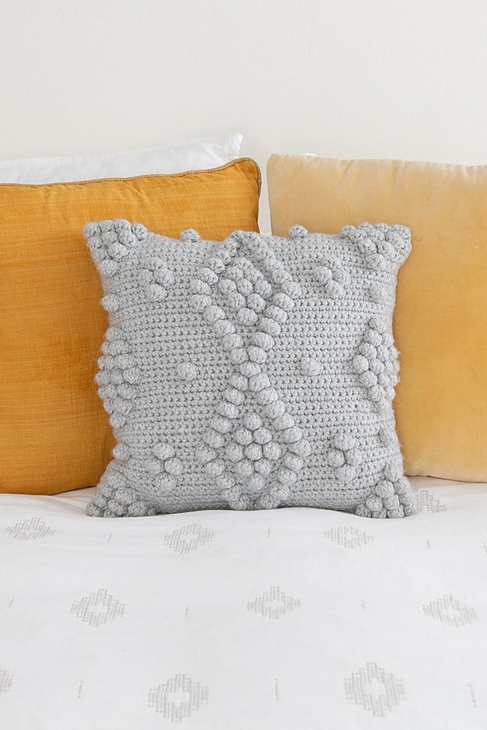 Free Crochet Bobble The Barrington Pillow Pattern