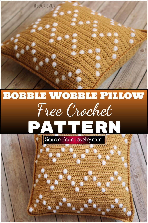 Free Crochet Bobble Wobble Pillow Pattern 1