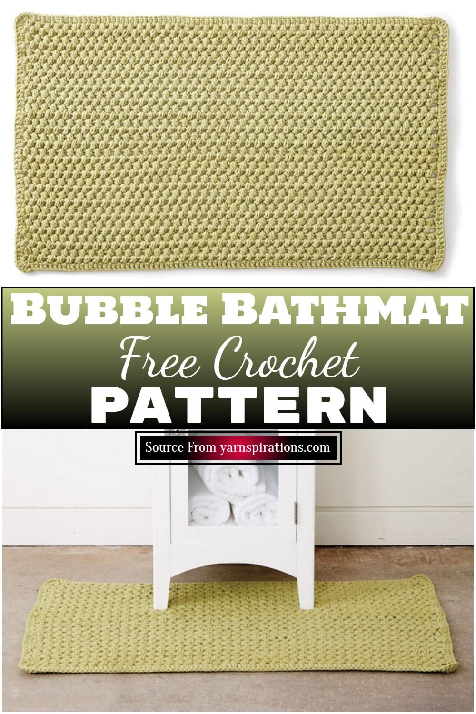 Free Crochet Bubble Bathmat Pattern 1
