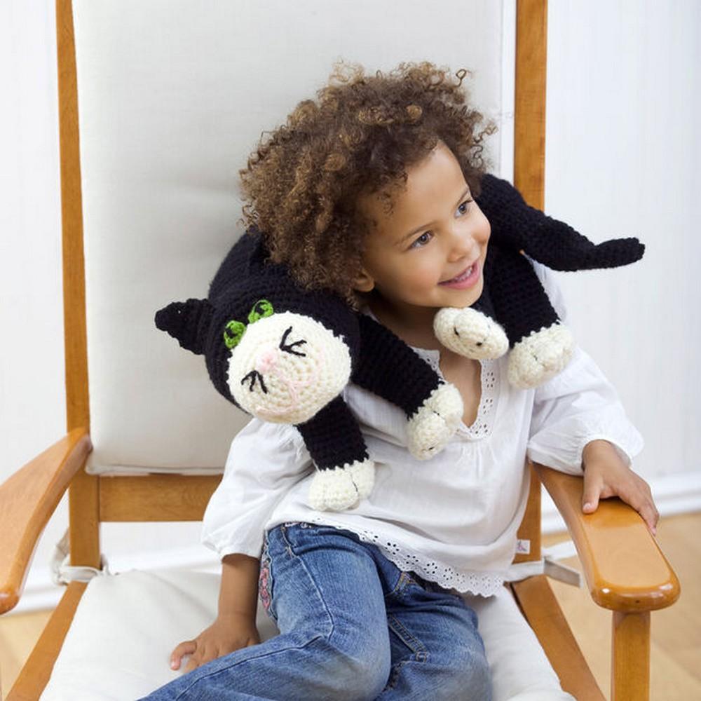 Free Crochet Cat Neck Pillow